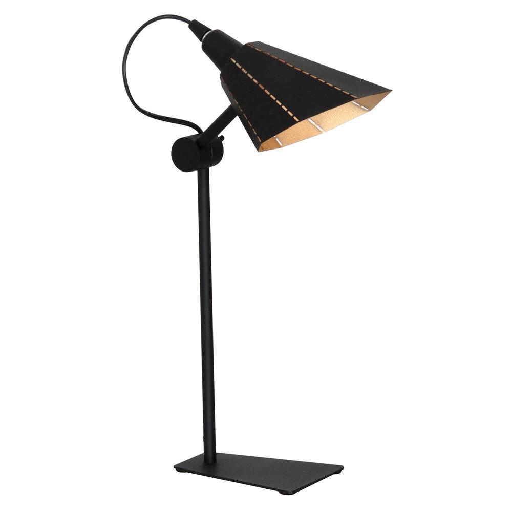 Čierna stolová lampa Glimte Zambia
