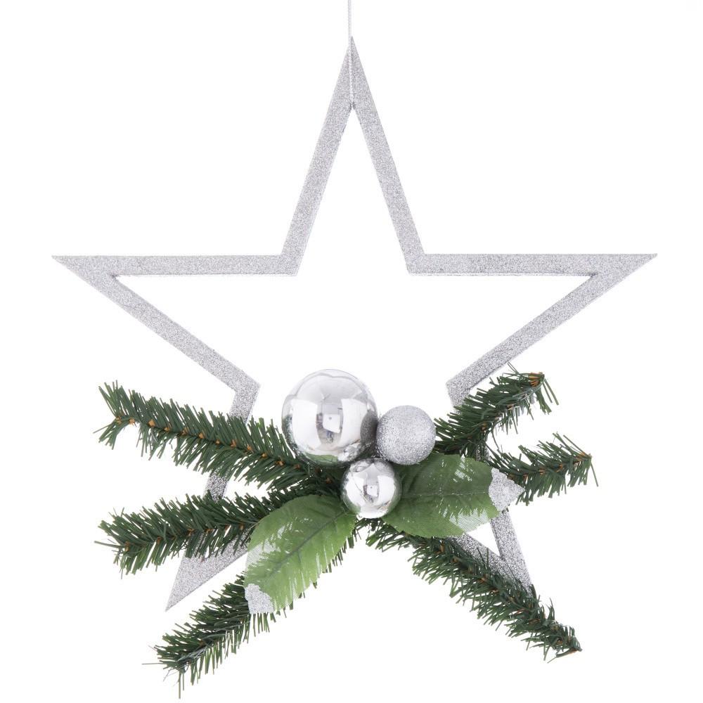 Vianočná dekorácia v striebornej farbe Ixia Pine