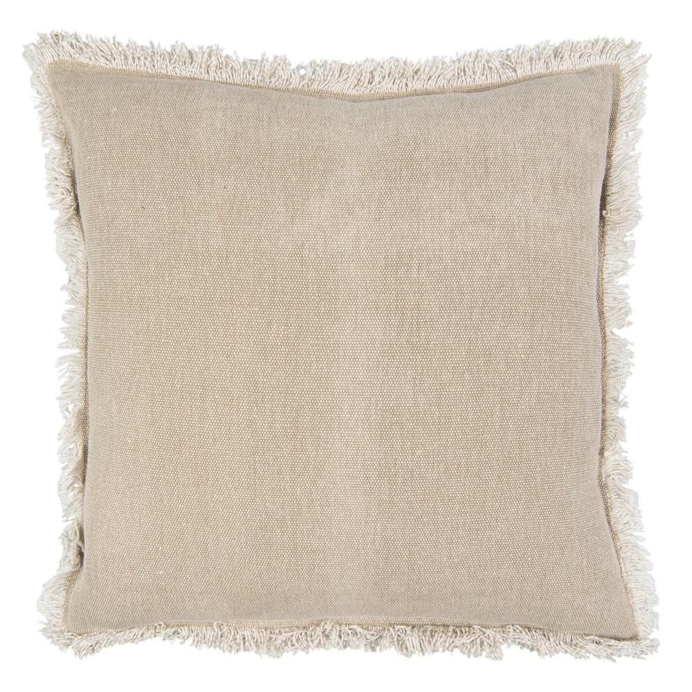 Béžový bavlnený vankúš Clayre & Eef Mismo, 45 x 45 cm