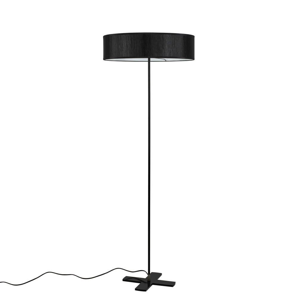 Čierna voľne stojaca lampa Bulb Attack Doce
