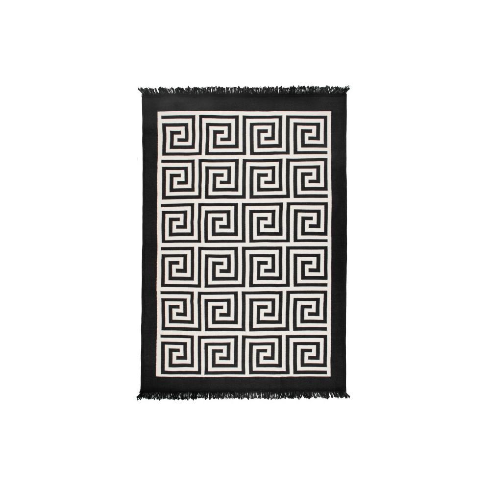 Obojstranný béžovo-čierny koberec Home De Bleu Zarámované, 120 x 180 cm