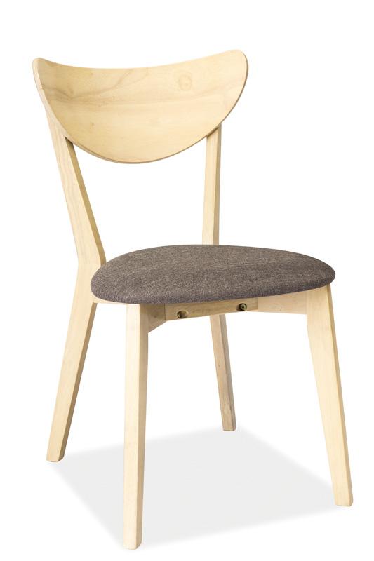 SIGNAL CD-37 jedálenská stolička - sivá / biely dub