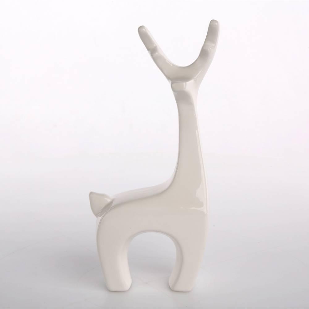 Altom Vianočná dekorácia Deer 9,5 x 19 cm, biela