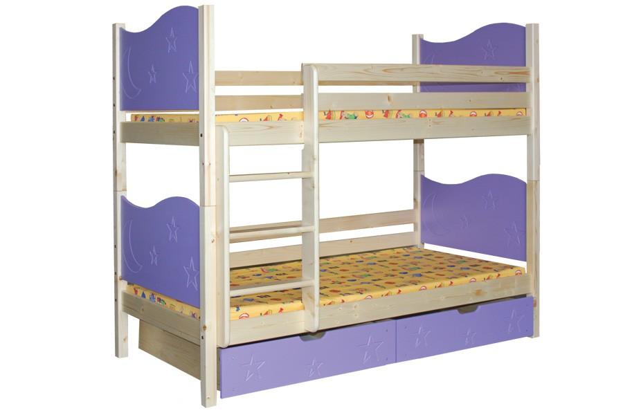 Bradop Poschodová posteľ MARIO (základné prevedenie) B410-80x180