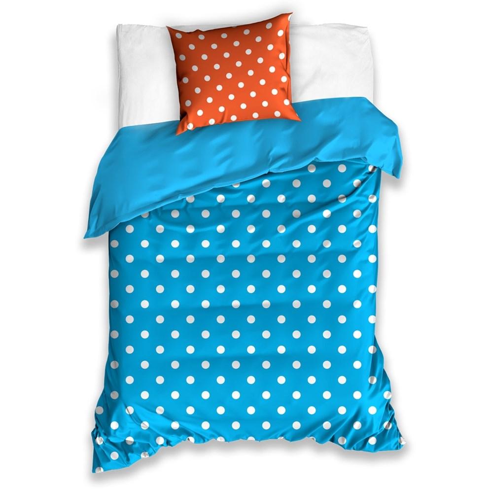 BedTex Bavlnené obliečky bodka modrá, 140 x 200 cm, 70 x 90 cm