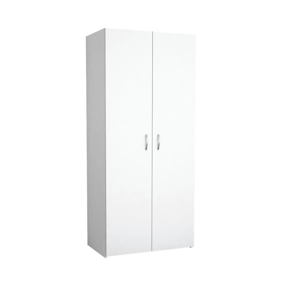 Biela šatníková skriňa Midili, 80×180 cm