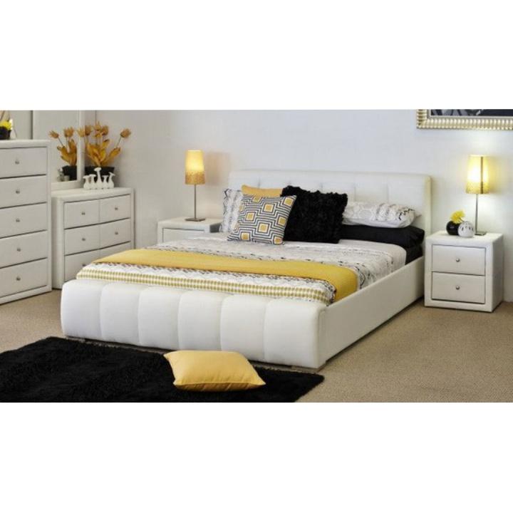 TEMPO KONDELA FANTASY 160 manželská posteľ - biela