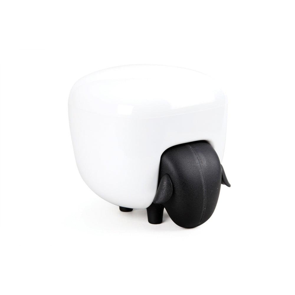 Bielo-čierna viacúčelová dóza v tvare ovečky Qualy&CO Sheepshape Container
