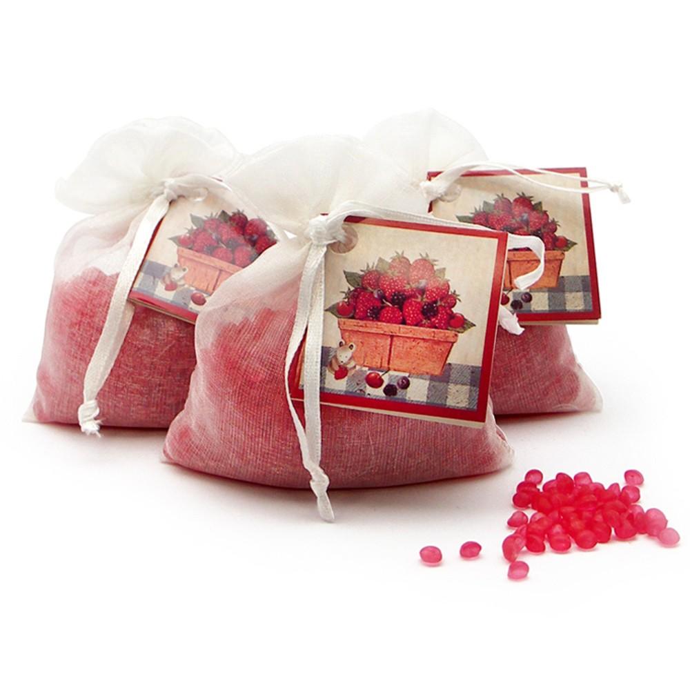 Vonné vrecúško z organzy s vôňou červeného ovocia Boles d'olor Frutos