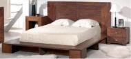Furniture nábytok  Masívna posteľ z Palisanderu  Gájatrí I  225x215x100 cm