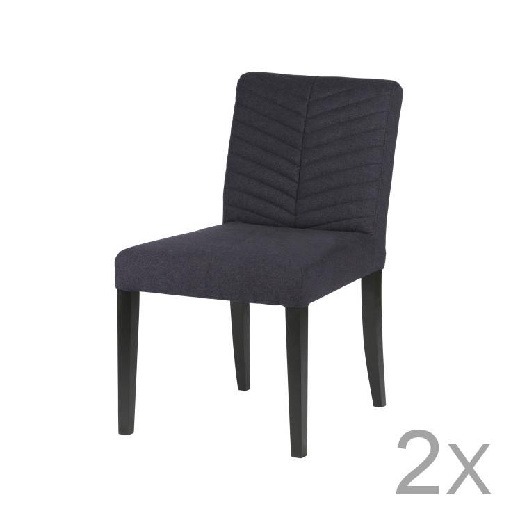 Sada 2 tmavomodrých stoličiek DeEekhoorn Nora