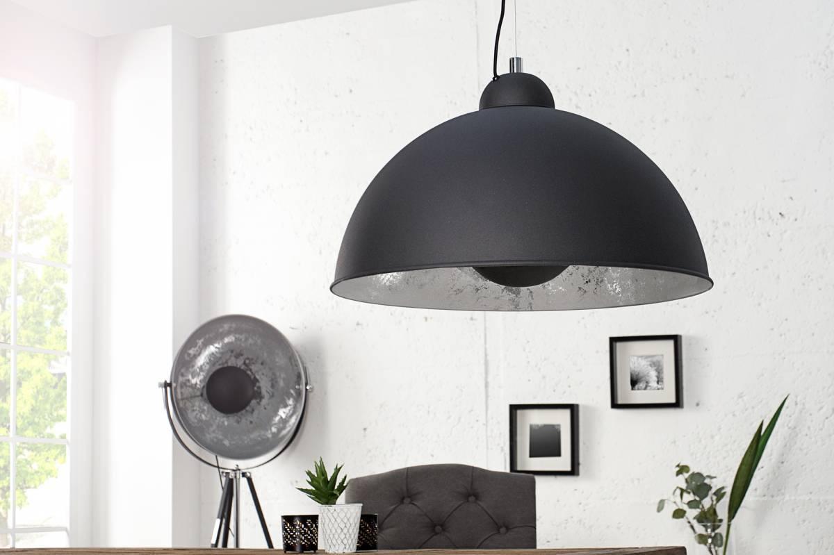 Visiaca lampa STADO - čierna, strieborná