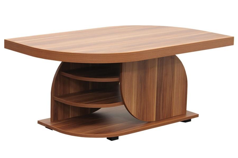 Bradop Konferenčný stolík DAN, obdĺžnik, police a kolieska K125