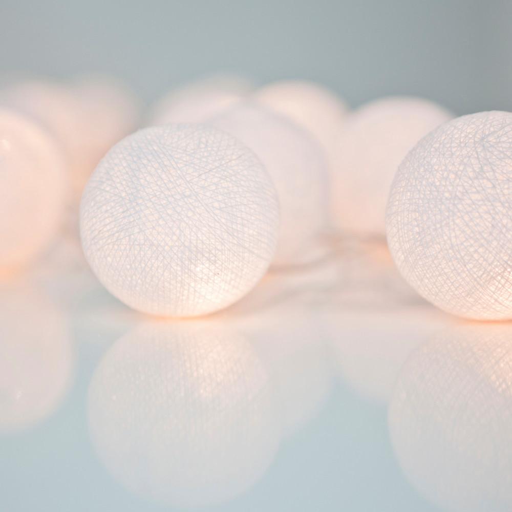 Svietiaca reťaz Irislights Pure White,10svetielok