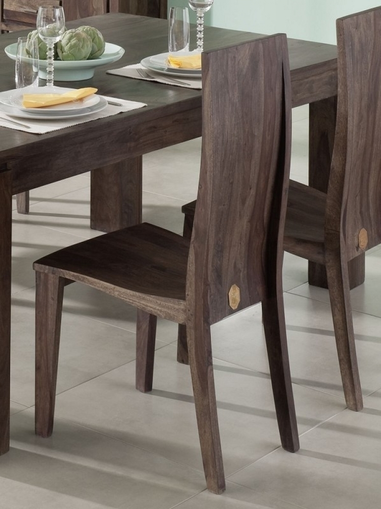 METRO POLIS #169 Sheesham stolička, masívne palisandrové drevo