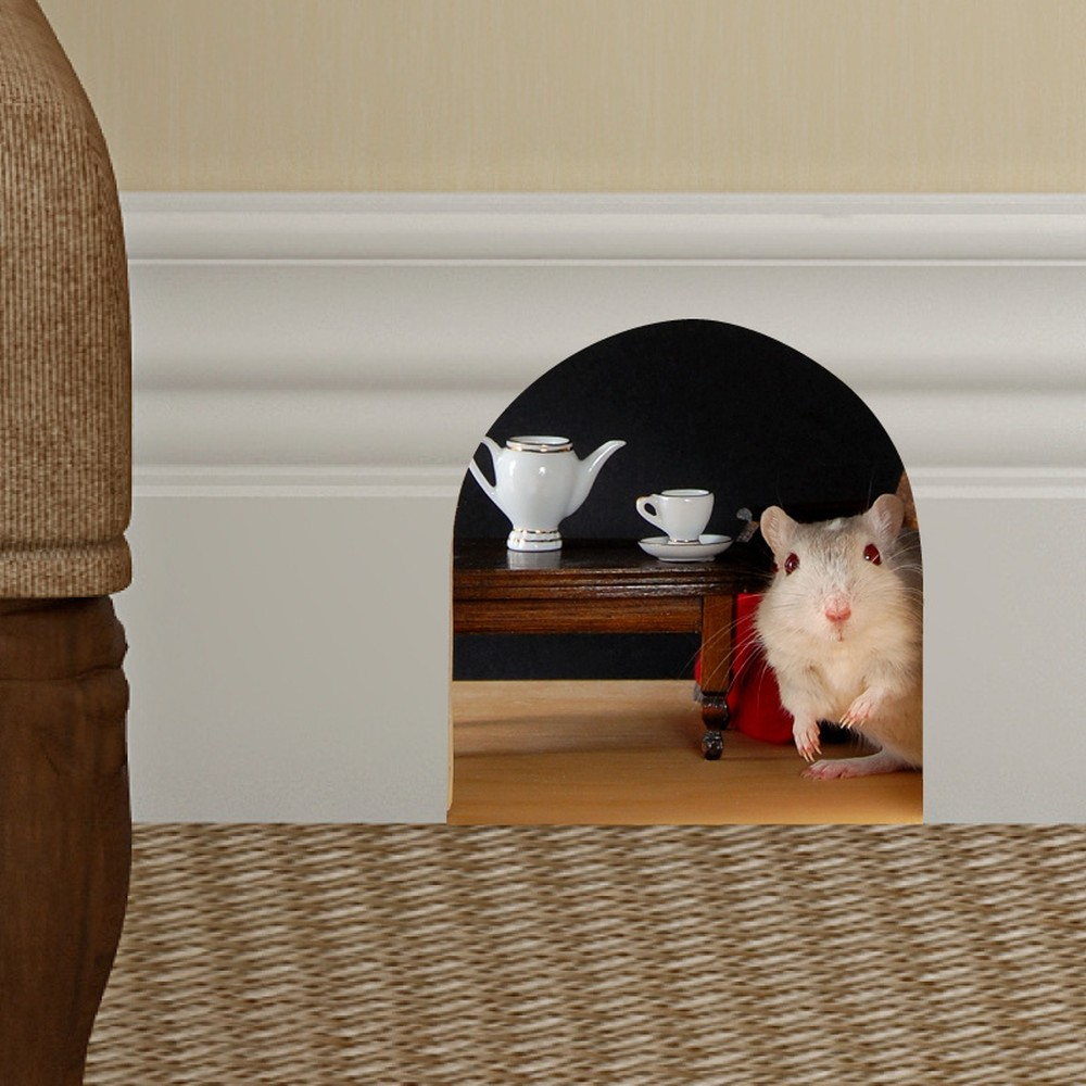 Samolepka Ambiance Mouse hole for tea