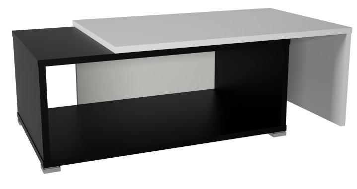 Konferenčný stolík Dron (biela + čierna)