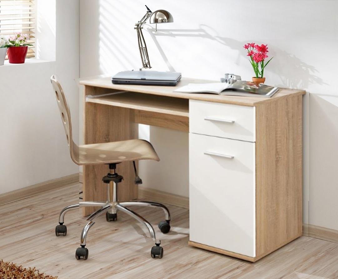 Pracovný stôl DOMINO, javor/biela