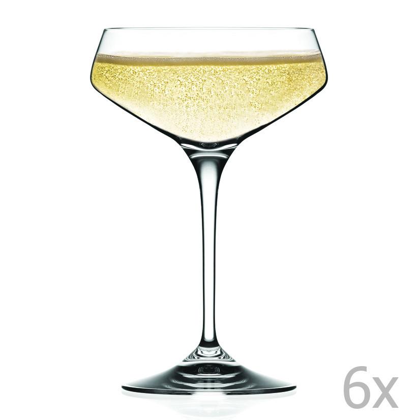 Sada 6 pohárov na sekt RCR Cristalleria Italiana Alessandra
