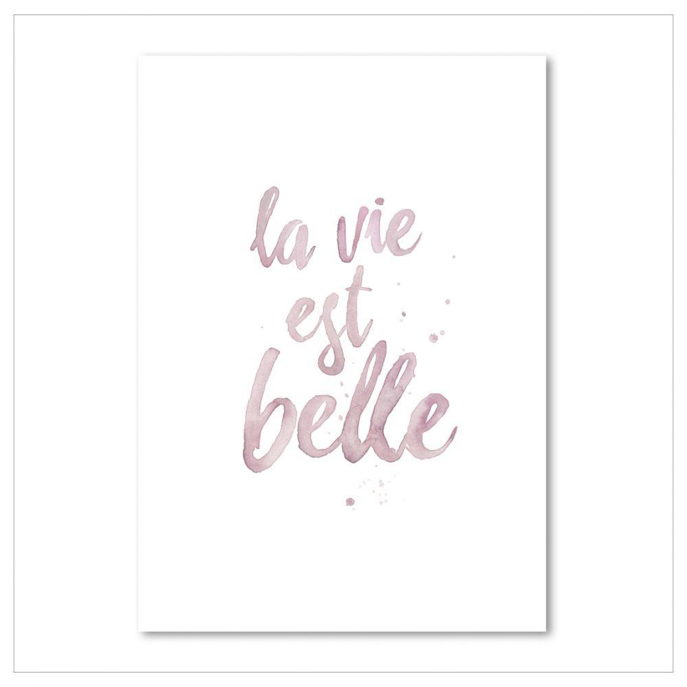 Plagát Leo La Douce La Vie Est Belle, 21x29,7cm