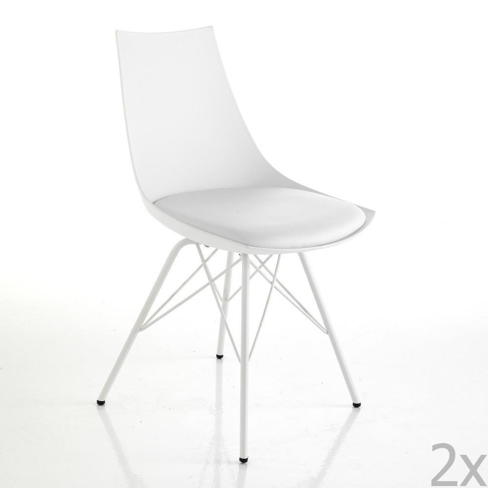 Sada 2 bielych jedálenských stoličiek Tomasucci Kiki