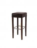 Čalúnená barová stolička - ekokoža