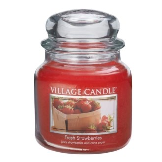Village Candle Vonná svíčka, Čerstvé jahody - Fresh Strawberry, 397 g
