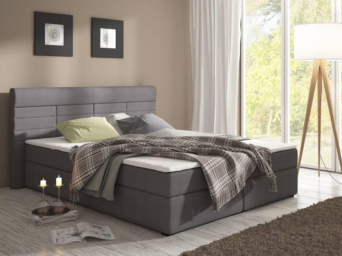 Manželská posteľ Boxspring 180 cm Torino (s matracmi)
