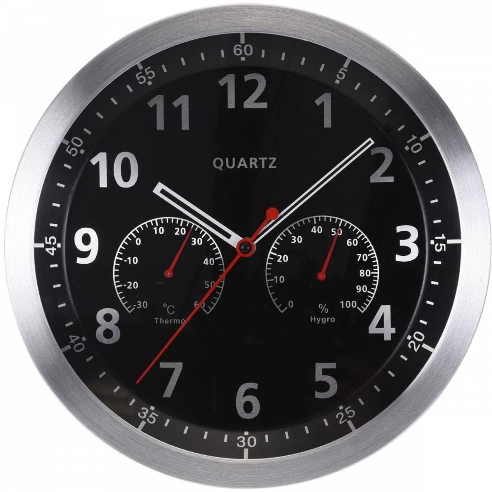 Nástenné hodiny Fremont čierna, 35 cm