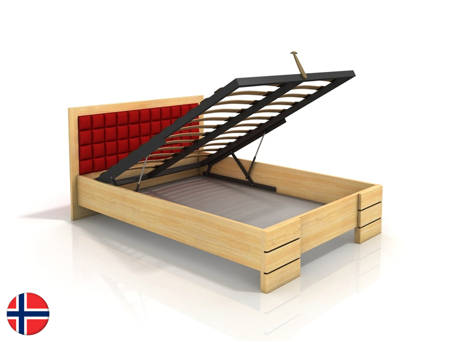 Manželská posteľ 160 cm Naturlig Storhamar High BC (borovica) (s roštom)