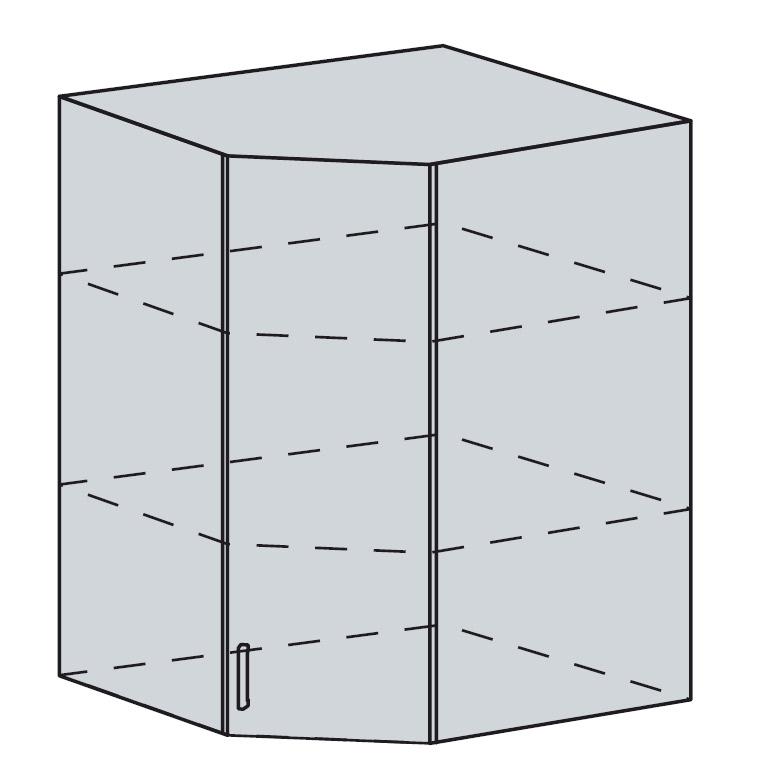 PROVENSAL horná rohová skrinka 60HR-92 šedá