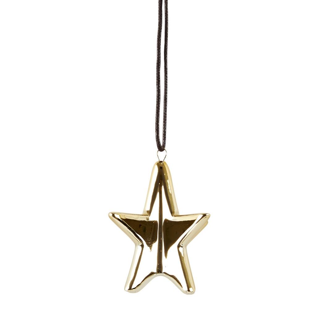 Dekoratívna hviezda KJ Collection Ceramic Gold, 6,4 cm