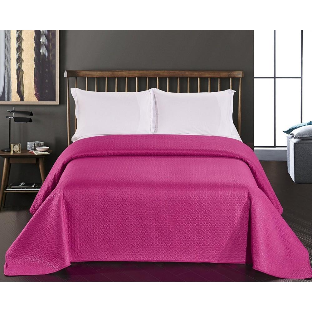 Ružový obojstranný pléd z mikrovlákna DecoKing Bibi, 240x260cm