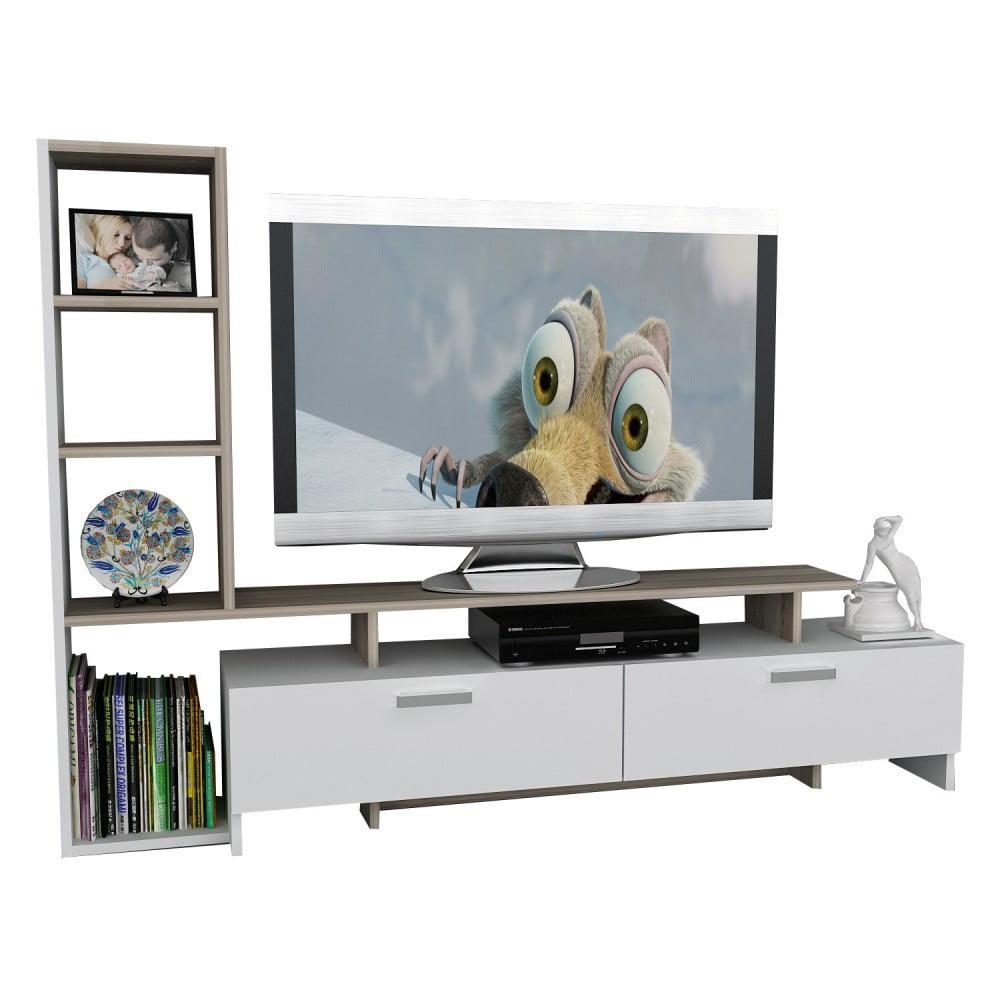 Biely TV stolík Gardo Simal
