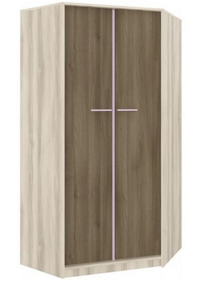 Rohová šatníková skriňa GEOMETRIC 01 / BREST / AGÁT   Farba: Fialová