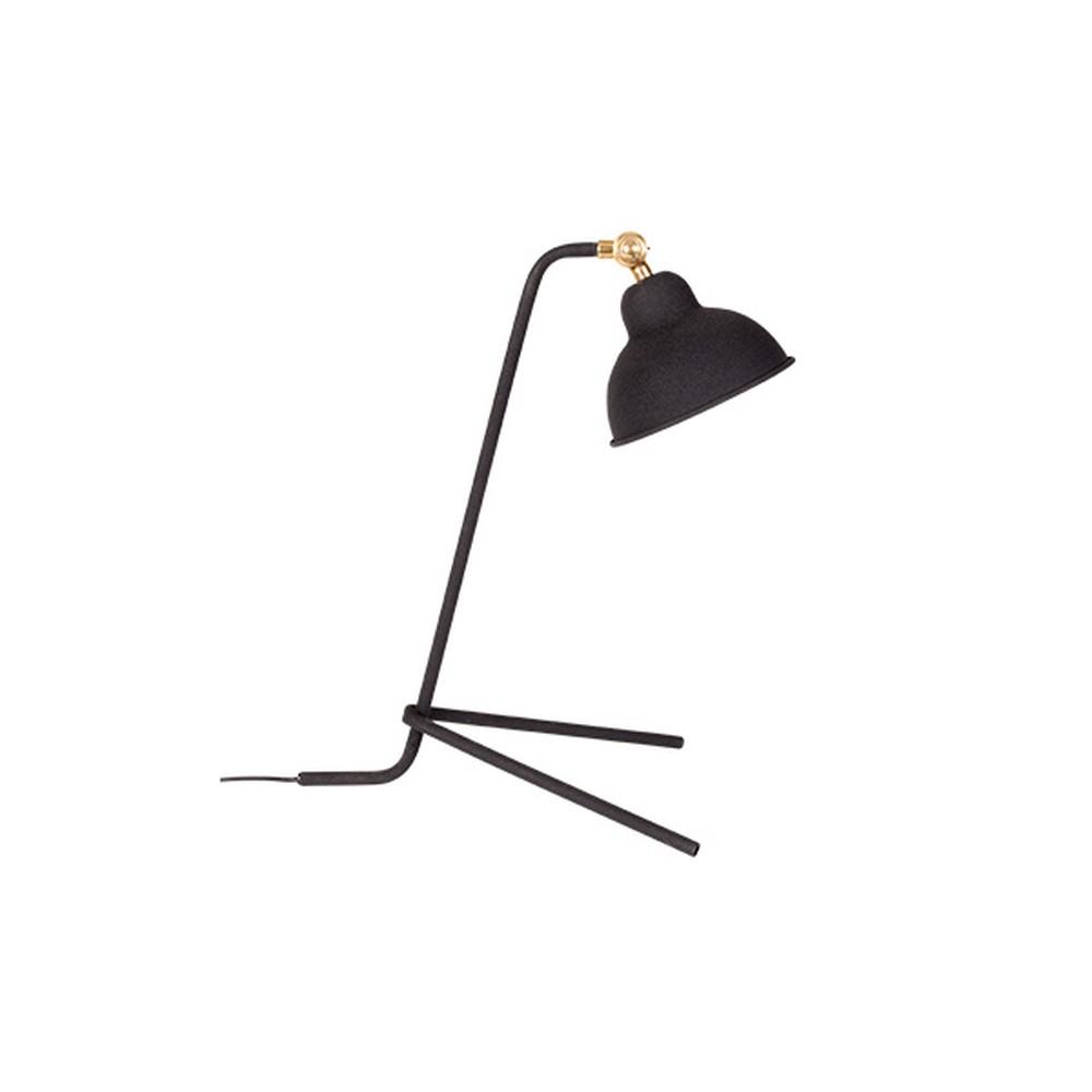 Čierna stolová lampa White Label Jock