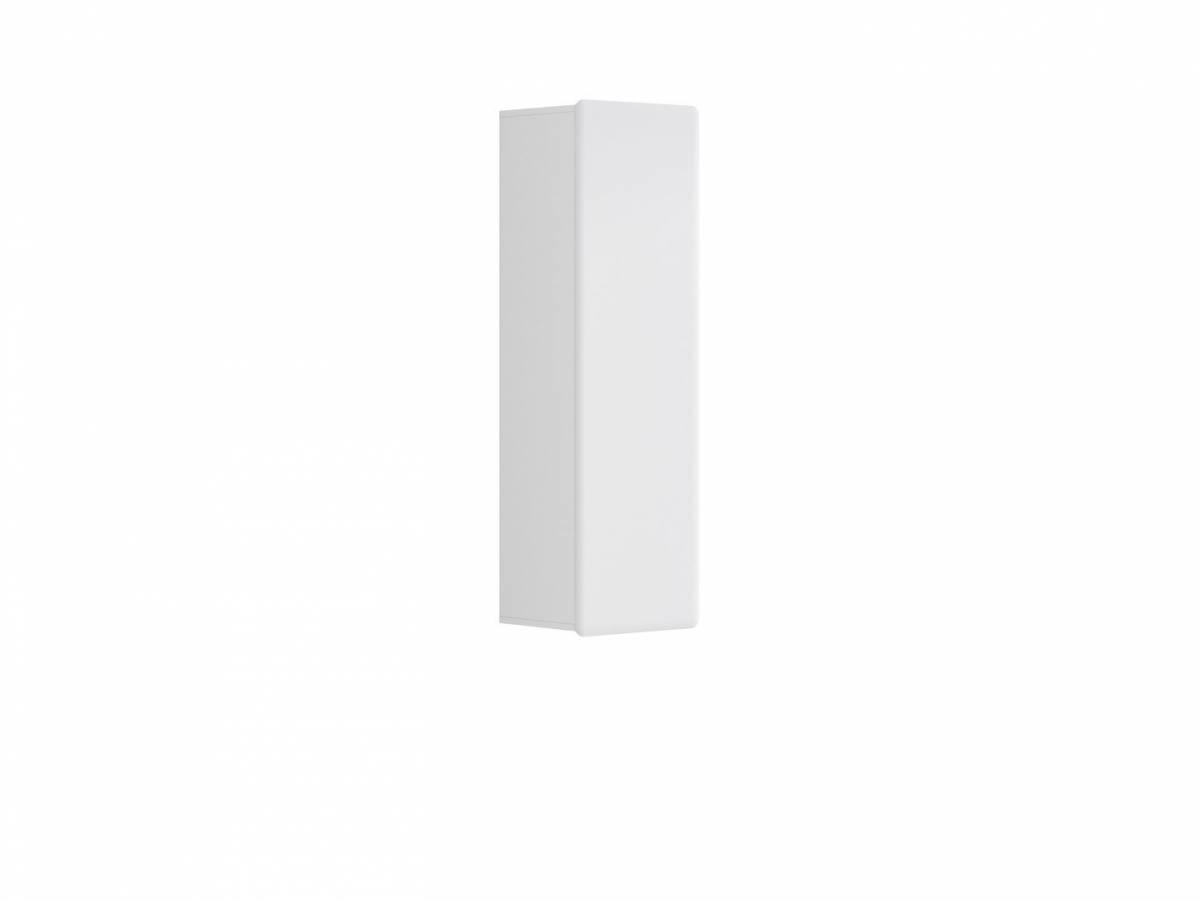 Skrinka na stenu Possi Light SFW1D/13/4 (biela + lesk biely)