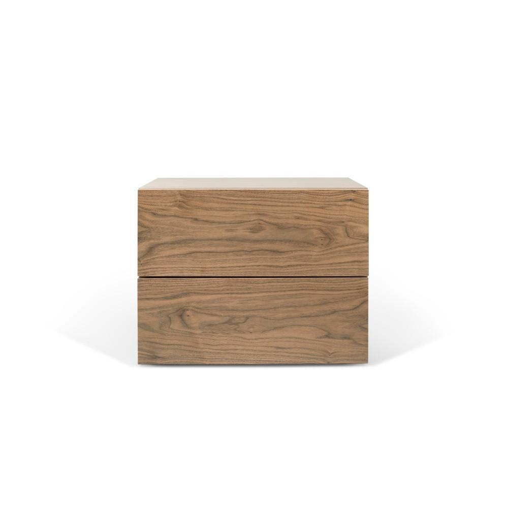Hnedý nočný stolík s 2 zásuvkami TemaHome Aurora