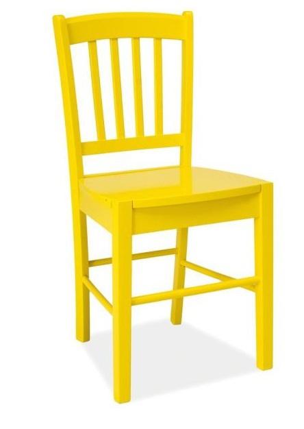 SIGNAL CD-57 jedálenská stolička - žltá