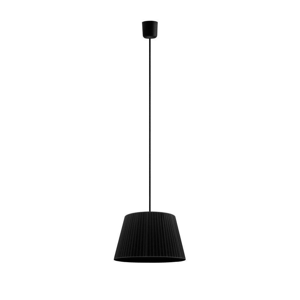 Čierne závesné svietidlo Sotto Luce Kami M