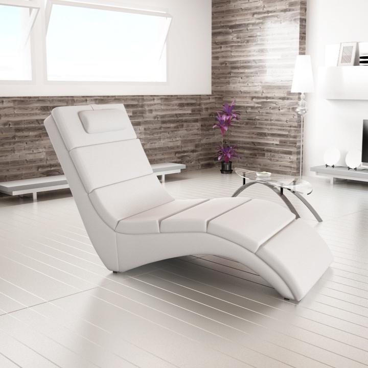 Relaxačné kreslo LONG   Farba: Biela