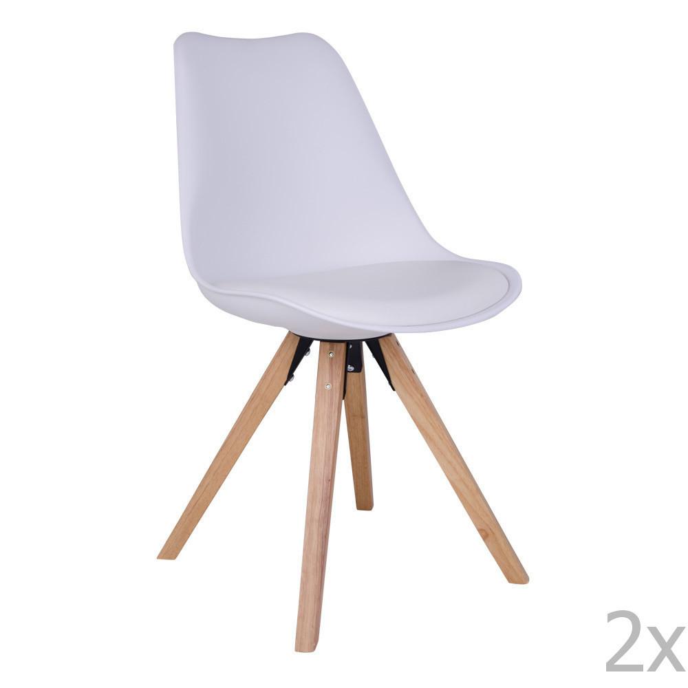 Sada 2 bielych stoličiek House Nordic Bergen