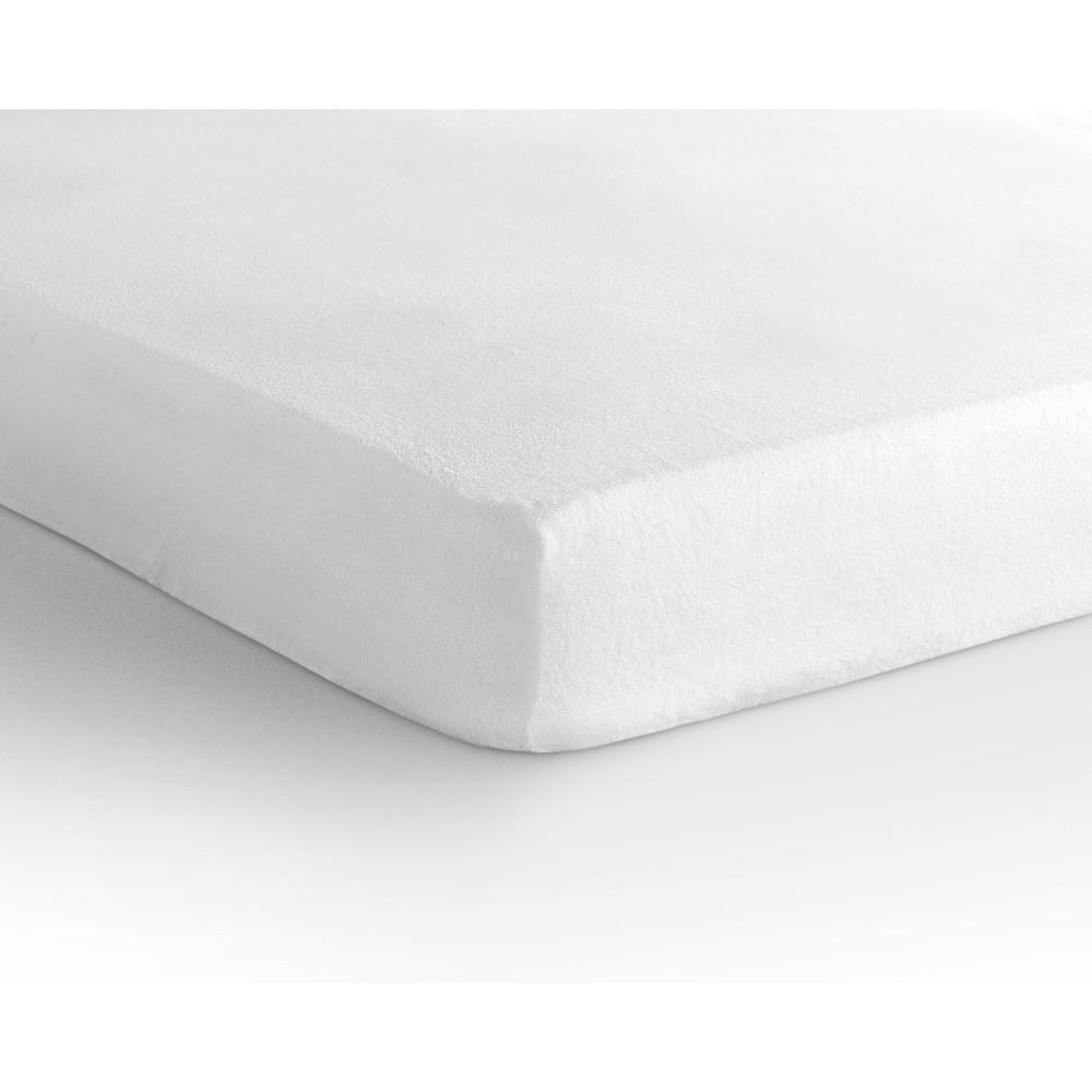 Biela elastická plachta Homecare, 190-200 x 220-230 cm