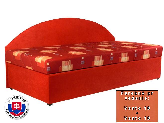 Jednolôžková posteľ (váľanda) 90 cm Kavy (so sendvičovým matracom) (P) *bazár
