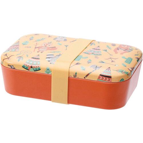 Desiatový box Indian, 19 x 13 x 5,5 cm, žltá
