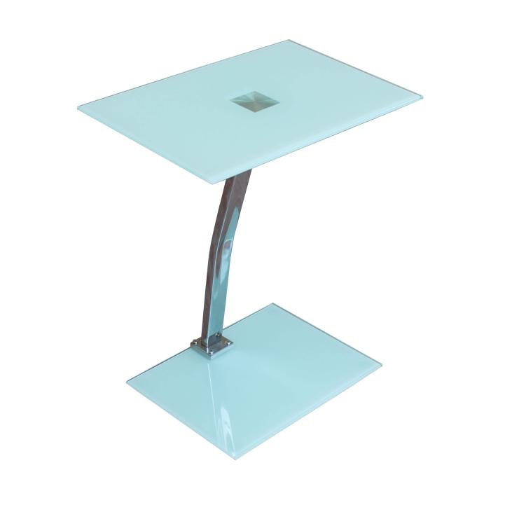 TEMPO KONDELA Príručný stolík, biela, PELOK