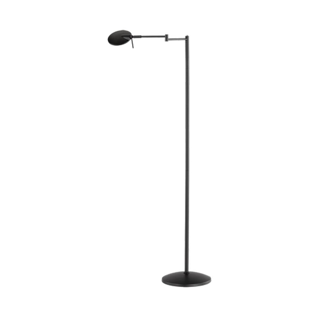 Čierna stojacia LED lampa Trio Kazan, výška