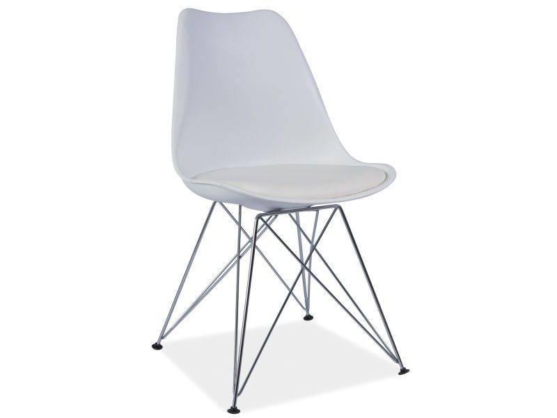 SIGNAL TIM jedálenská stolička - biela