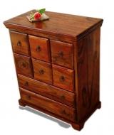 Furniture nábytok  Masívna komoda s 8 zásuvkami  z Palisanderu  Lakšmí  65x35x78 cm