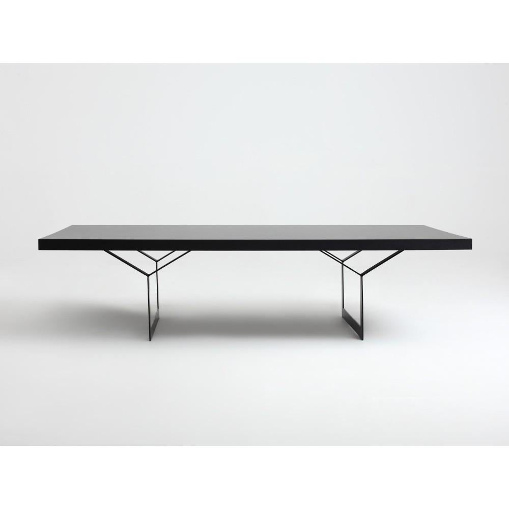 Čierny konferenčný stolík Custom Form Longo